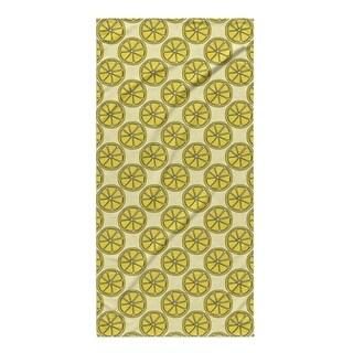 Kavka Designs Yellow Lemons Beach Towel