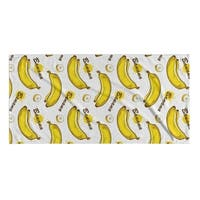 Kavka Designs Yellow/White Banana Beach Towel