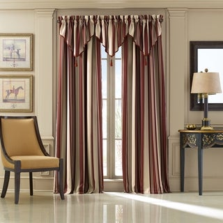 Five Queens Court Jackson Stripe Window Drapery with Rod Pocket (2 options available)