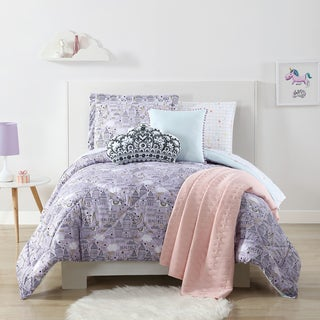 Laura Hart Kids Unicorn Princess Printed 3-piece Comforter Set