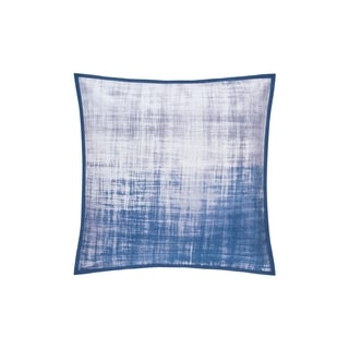 Five Queens Court Tristan Twill Cotton 20 Inch Square Throw Pillow - Blue