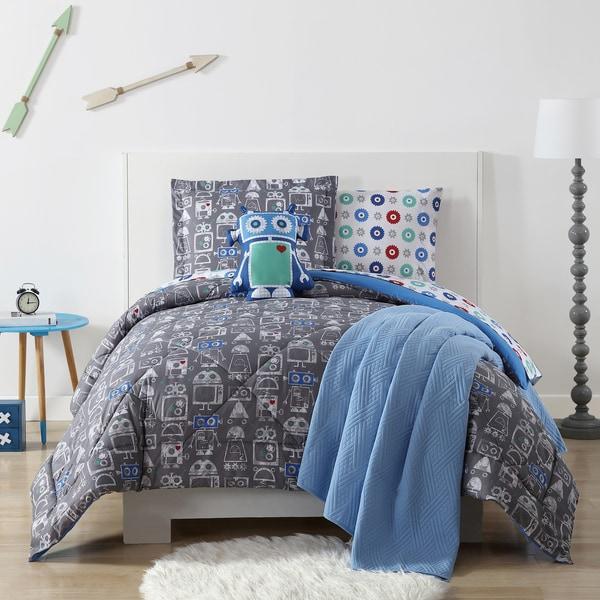 My World Roboto Printed 3-piece Comforter Set