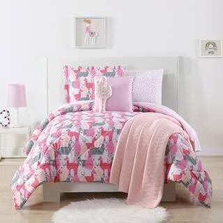Laura Hart Kids Llama Llama Printed 3-piece Comforter Set|https://ak1.ostkcdn.com/images/products/17179119/P23440309.jpg?impolicy=medium