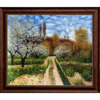 Claude Monet 'Trees in Bloom' Hand Painted Oil Reproduction