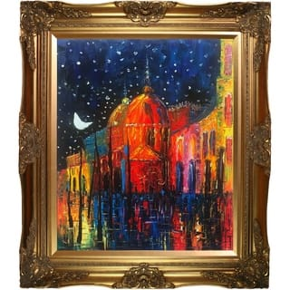 Justyna Kopania 'Night' Hand Painted Oil Reproduction