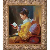 Jean-Honore Fragonard 'The Reader' Hand Painted Oil Reproduction