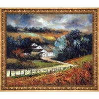 Pol Ledent 'Sechery in Autumn' Hand Painted Oil Reproduction