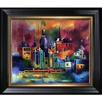 Pol Ledent 'Dinant 8851' Hand Painted Oil Reproduction