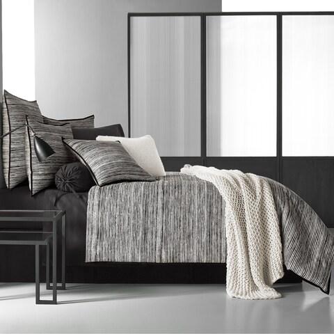 Five Queens Court Felix Twill Cotton 4-Piece Comforter Set - White/Black