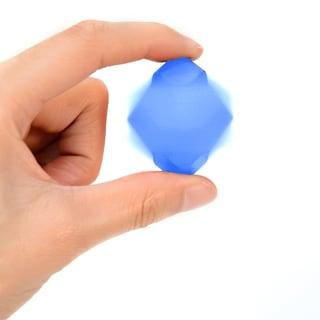 Metallic Spinning Cube Blue