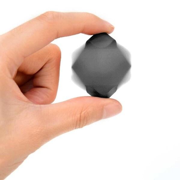Metallic Black Spinning Cube