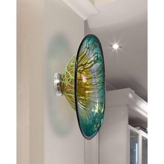"Springdale 7.5""H Artleta Hand Blown Art Glass Wall Decor"