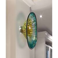 "Springdale  7.5""H Artleta Hand Blown Art Glass Wall Decor"