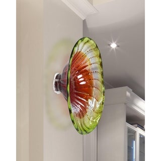 "Springdale 7.5""H Verdugo Hand Blown Art Glass Wall Decor"