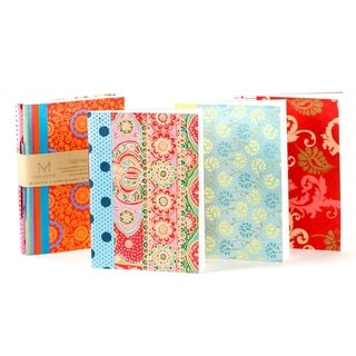 Handmade Ida Travel Journals - Set of 3 (India)