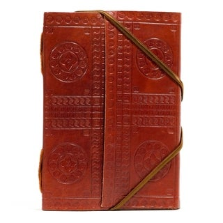Handcrafted Bound in Leather Journal - Large (India)