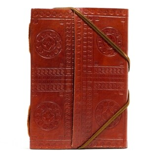 Handmade Bound in Leather Journal - Large (India)