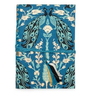 Handmade Fauna Journal - Blue Peacock (India)