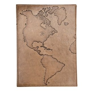 Handcrafted Ancient Globetrotter Leather Journal (India)