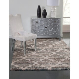 """Palace Blue/Brown/Tan Area Rug by Greyson Living (5'3 x 7'6) - 5'3"""" x 7'6"""""""