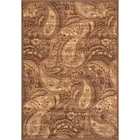 "Paloma Brown/Ivory/Sage Area Rug by Greyson Living - 5'3"" x 7'6"""
