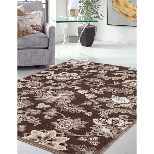 "Adalia Black/Grey/Ivory Area Rug by Greyson Living - 5'3"" x 7'9"""