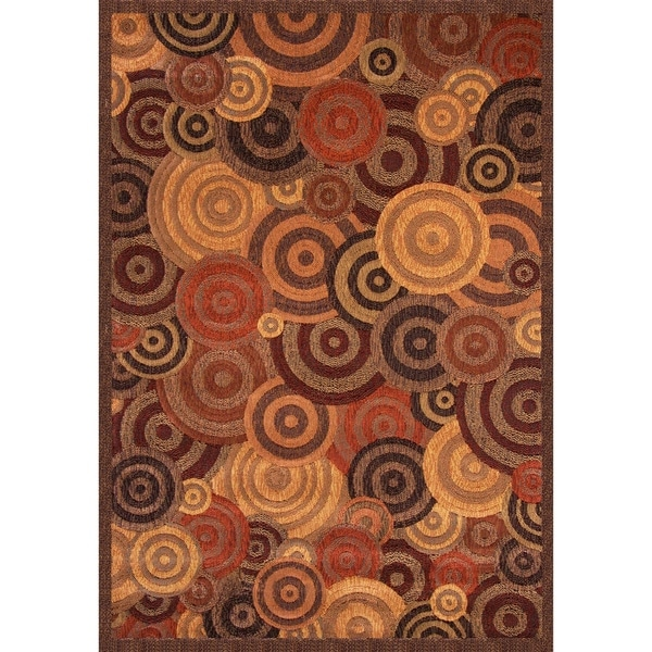 Shop Gia Rust Gold Brown Area Rug By Greyson Living 5 3 X 7 6