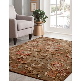 "Finola Brown/Tan/Ivory/Burgundy Area Rug by Greyson Living - 5'3"" x 7'9"""