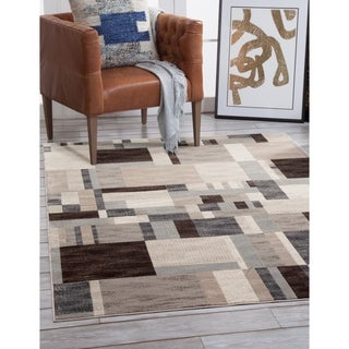 "Kealan Charcoal/Ivory/Grey Area Rug by Greyson Living - 5'3"" x 7'9"""