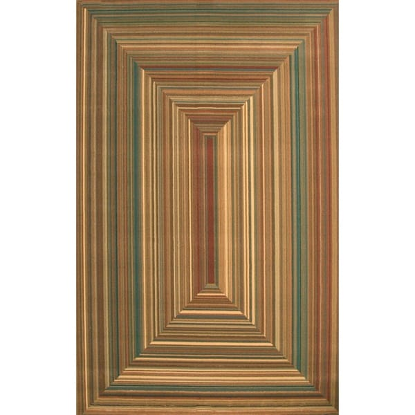 "Ingrid Rust/Teal/Tan/Brown Area Rug by Greyson Living - 5'3"" x 7'6"""