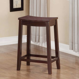 August Wooden Counter Saddle Stool