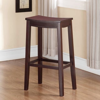 August Wooden Bar Saddle Stool