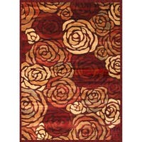 """Rosalia Rust/Brown/Tan/Red Area Rug by Greyson Living - 5'3"""" x 7'6"""""""