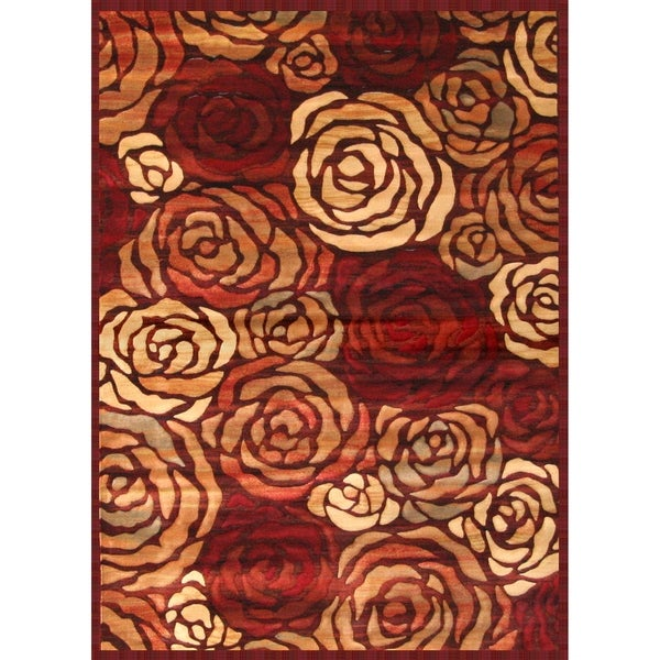 Rosalia Rust Brown Tan Red Area Rug By Greyson Living 5