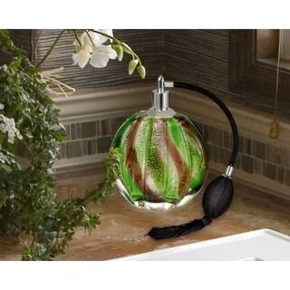 "Springdale 6.25""H Palm Bay Hand Blown Art Glass Perfume Bottle"