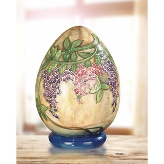 "Springdale 6""H Grape Vine Hand Painted Porcelain Decorative Egg"