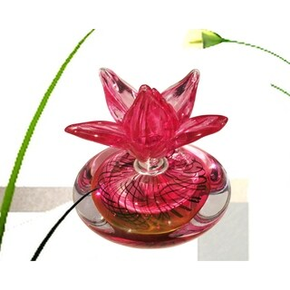 "Springdale 6.75""H Farrah Hand Blown Art Glass Perfume Bottle"