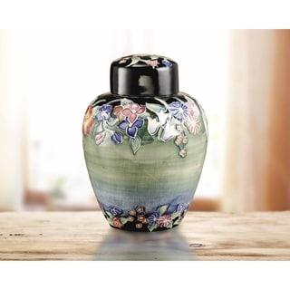 "Springdale 5""W Flower Garden Hand Painted Porcelain Jug with Lid"