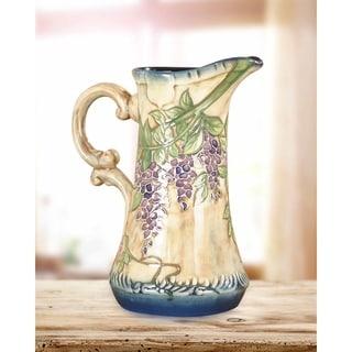 "Springdale 6.5""W Grape Vine Hand Painted Porcelain Jug"