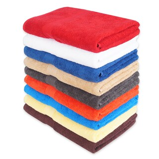 Absorbent Combed Cotton Bath Towels - Multiple Set Sizes Available