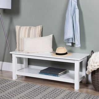 50-inch Country Style Entry Bench with Slatted Shelf