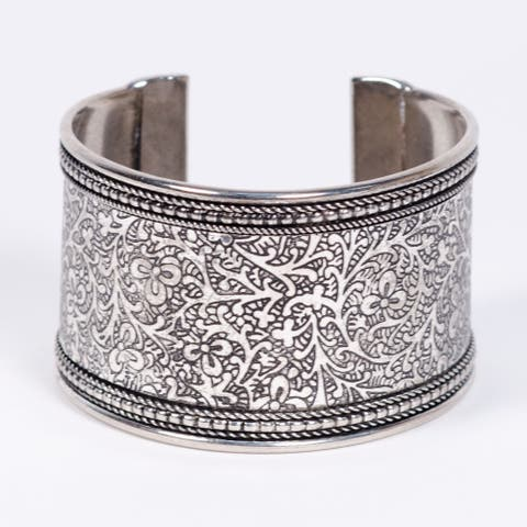 Handmade Metal Impression Cuff (India)