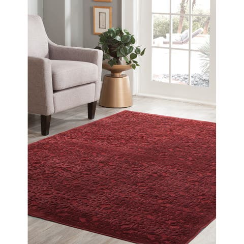 """Kira Red Area Rug by Greyson Living - 5'3"""" x 7'9"""""""