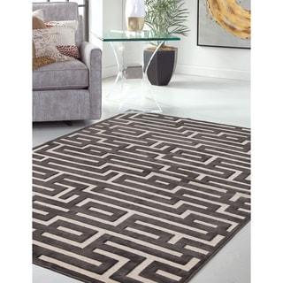 "Makani Charcoal/Beige Area Rug by Greyson Living (7'9"" x 11'2"")"