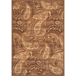 "Paloma Brown/Ivory/Sage Area Rug by Greyson Living (7'9"" x 10'6"")"