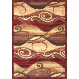 "Parisa Rust/Sage/Red/Tan Area Rug by Greyson Living (7'9"" x 10'6"")"