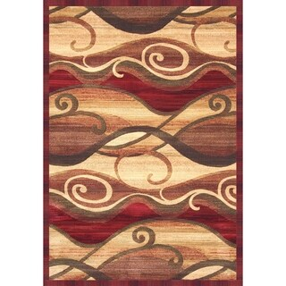 """Parisa Rust/Sage/Red/Tan Area Rug by Greyson Living - 7'9"""" x 10'6"""""""