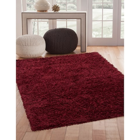 Landis Shag Cranberry Area Rug by Greyson Living - 8' x 10'