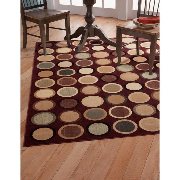 Britta Burgundy/Tan/Beige/Sage Area Rug by Greyson Living