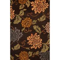 Sallie Chocolate/Sage/Gold Area Rug by Greyson Living - 8' x 10'